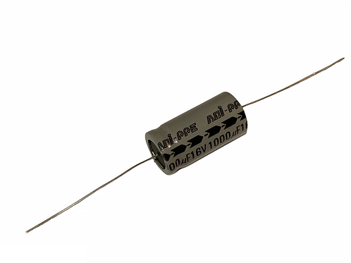 1 Piece CAP ALUM ELEC 1000UF 1000MF 16V AXIAL CAPACITOR (replacing 10V 6.3V )