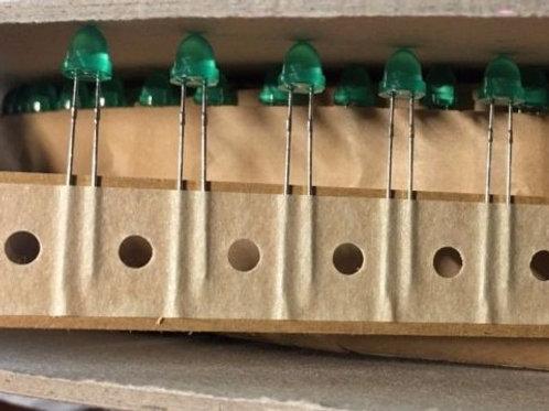 50 Pcs HLMP-3554 5mm Standard LED Through Hole GaP Green ORIGINAL OEM