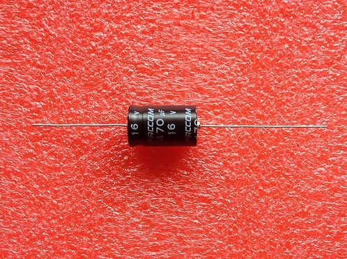 5 PCS PACCOM CAP ALUM ELEC 470UF 16V AXIAL (REPLACING FOR 10V 6.3V )