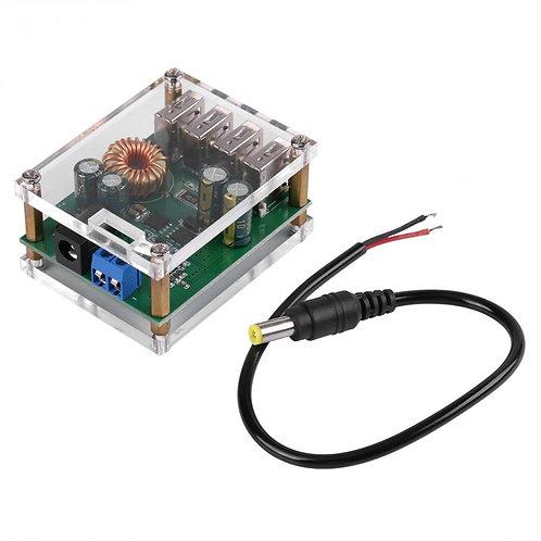 DC 9V 12V 24V 36V 48V 7-60V to 5V 4 USB Voltage Regulator Buck Converter 5A
