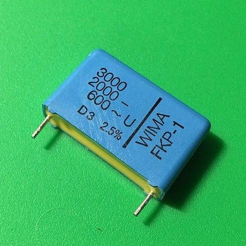 1 PCS WIMA Film Capacitor 3000pF 3NF 0.003UF 2.5% 2000V DC 600V AC ORIGINAL OEM