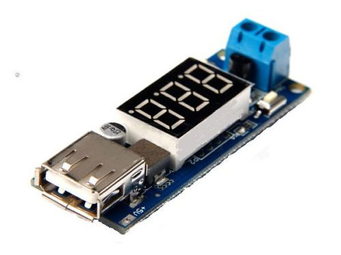 1 PCs 2 in 1 Voltmeter and USB Step-Down Buck Module DC 24V 12V to 5V Charger MA