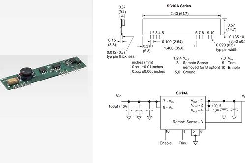 Bourns DC 5V TO 3.3V 10A Step Down SIP Module  DC Converter ORIGINAL OEM