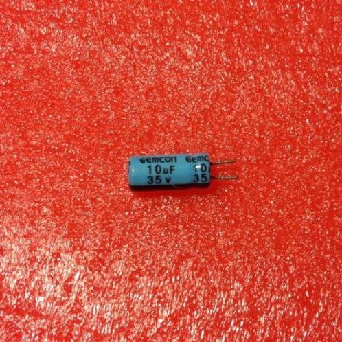 25 PCS CAPACITOR ALUM 10MF 10UF 35V RADIAL CAP (replacing for 25V 16V 10V 6.3V )