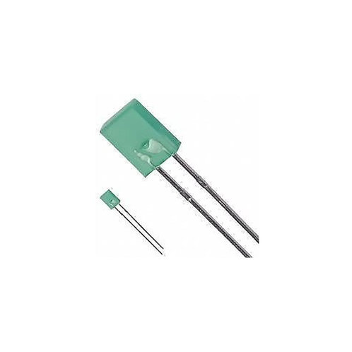 5 PCs RECTANGULAR GREEN LED 7X2X7mm