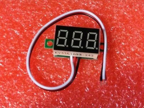 1 PCS three-wire  0.36` BLUE LED DC Digital Voltmeter Panel Meter DC 0-32V