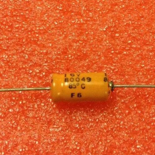 10 PCS SIEMENS 33UF 33MF 16V CAP ALUM ELEC AXIAL (REPLACING FOR 10V 6.3V )