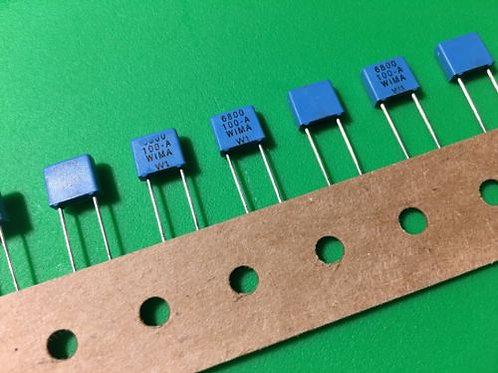 10 PCS WIMA Film Capacitor 630V 6800pF 6.8NF 10% ORIGINAL OEM CAP