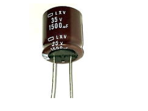 2 PCs Nippon Capacitor Electrolytic Radial 1500uF 1500MF 35V - 18X20mm