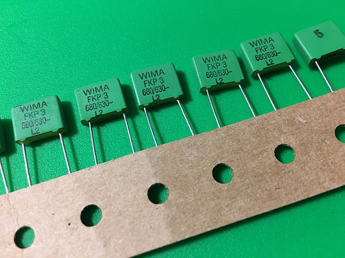 5 PCs Film Capacitor 680pf 0.68nF 0.00068uF 681 630V 5% Cap ORIGINAL OEM
