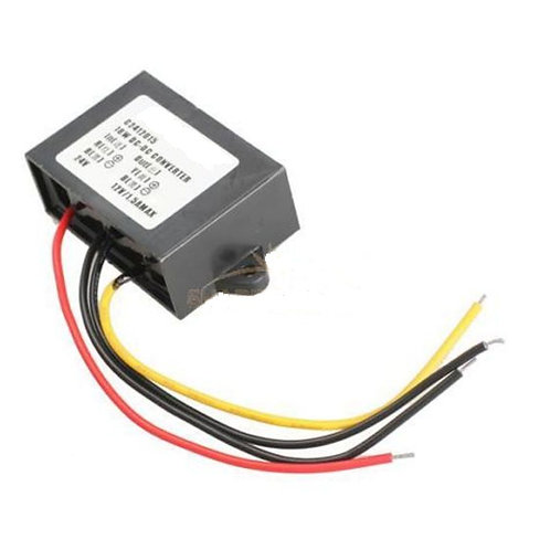 DC/DC In 24V Out 12V 1.5A Car Power supply Converter Regulator Waterproof 18W