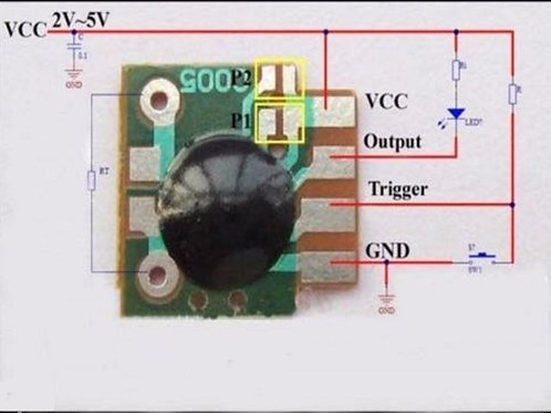 2 PCs Multifunction Delay Trigger Timing Chip Mudule Timer IC Timing 2s - 1000h
