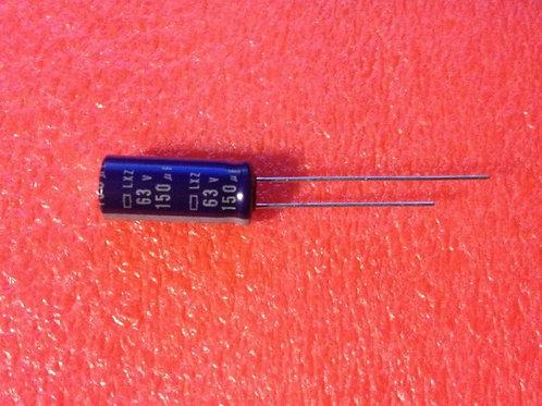 10 PCS NIPPON ELXZ630ELL151MH20N+000 Cap Aluminum 150uF 63V 20% Radial Japan