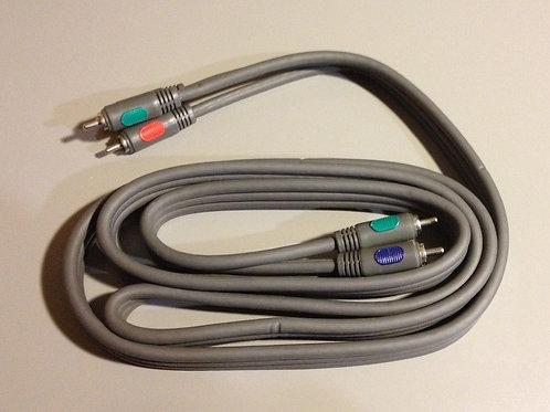 "6 FT heavy duty 3 RCA Composite Stereo Audio Video AV 6"" Cable Black (6 foot)"