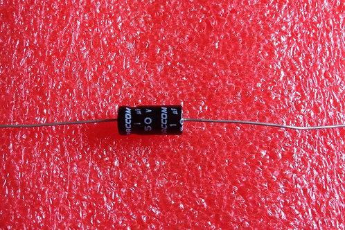 10 PCS CAP ALUM ELEC 1UF 1MF 50V AXIAL (REPLACING FOR 25V 35V )