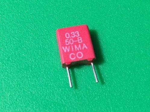 10 PCs Film Capacitor 0.33UF 330nF 334 50V DC 5% Cap ORIGINAL OEM