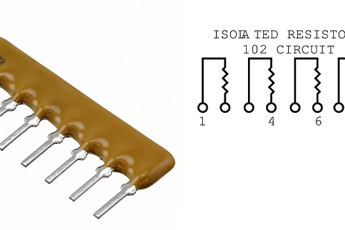 10 PCs Bourns 8Pin RESISTOR NETWORK 100K OHM 2% 8 PIN SIP NET ARRAY OF 4 RES