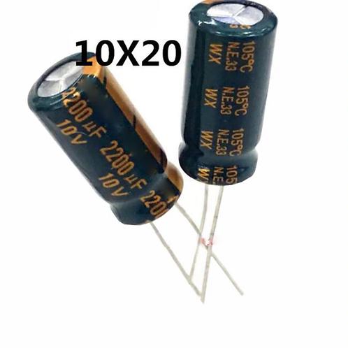 10 PCS SANYO CAPACITOR 2200MF 2200UF 10V RADIAL CAP