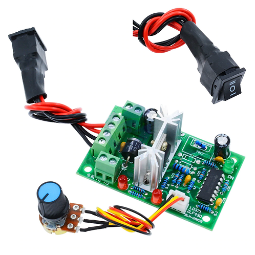 DC 6-30V 6A Motor Speed Controller Reversible PWM Control Forward/Reverse Switch