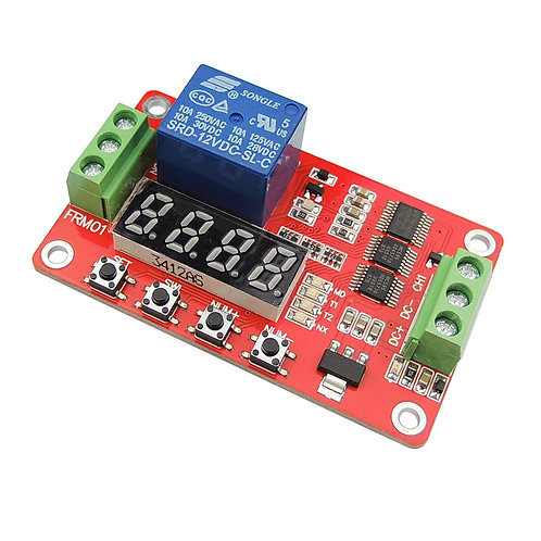 12V Multifunction Self-lock Relay Cycle Timer Module PLC Automation Delay Timer