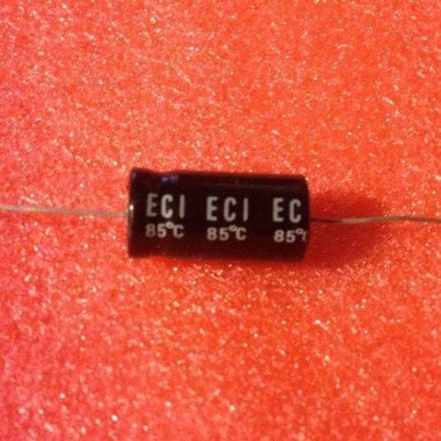 20 PCS ECI CAP ALUM ELEC 220UF 220MF 16V 20% AXIAL (REPLACING FOR 10V 6.3V )