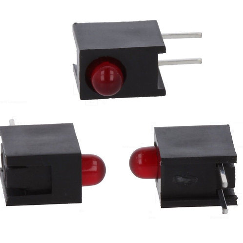 10 LED lots ( 60 Leds ) Indicator RED RIGHT ANGLE LED 3MM ORIGINAL
