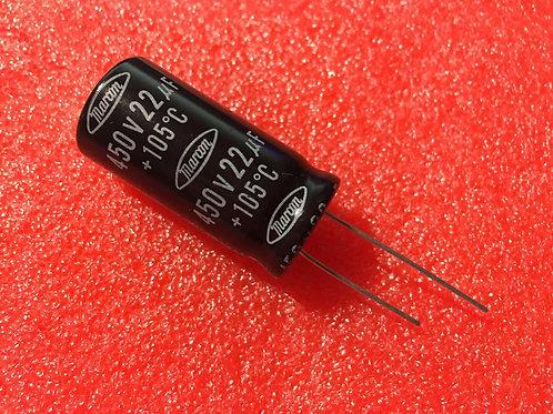 1 PCS NIPPON CAPACITOR 22uF 22MF 450V (REPLACING FOR 400V 350V 315V 250V 200V )