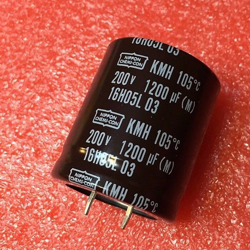 1PCs CAPACITOR 1200UF 200V 1200MF SNAP-IN 105°C (replacing for 180V 160v 100v )
