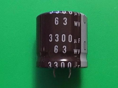 1 PCS SNAP-IN Capacitor 3300UF 3300MF 63V RADIAL (REPLACING FOR 50V 40V 35V )