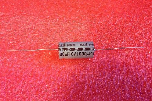 1 Piece CAP ALUM ELEC 1000UF 1000MF 16V AXIAL (replacing 10V 6.3V )