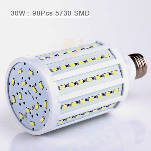 E27 SMD LED Corn Bulb AC 110V 30W Cool White High Luminous Spotlight lamp light