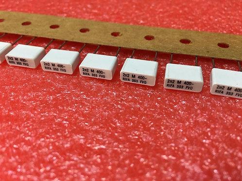 10 PCs Film Capacitor 400V 2200pF 2.2NF 2N2 CAP (REPLACING FOR 250V 200V 100V )