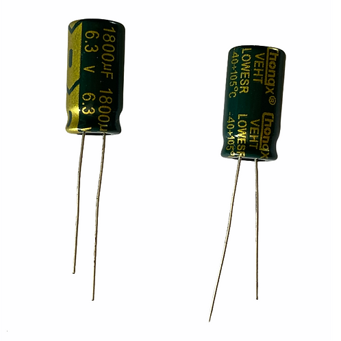 10 PCs Capacitor AL ELEC CAPACITOR 1800UF 1800MF 6.3V RADIAL THROUGH HOLE CAP