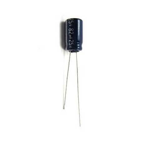 10 PCS PANASONIC CAP AL 82UF 25V RADIAL 105°C CAPACITOR (replacing of 10V 16V )