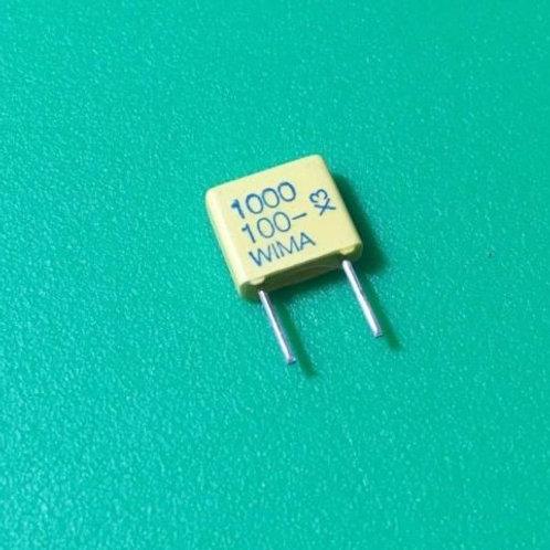 10 PCS WIMA Film Capacitor 1000pF 1NF 0.001UF 10% 100V ORIGINAL OEM