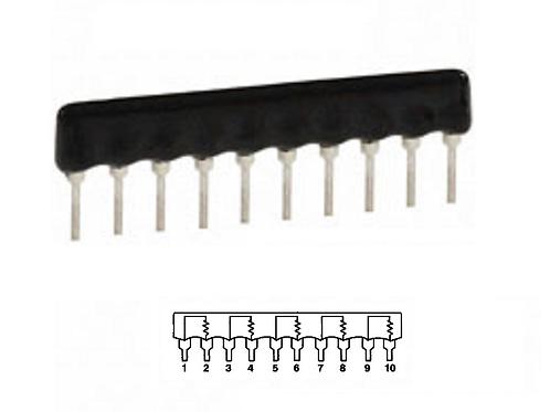 BI TECH L103C103 Resistor Network Array 10K OHM 10 PIN 2%