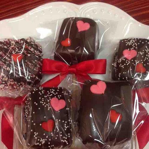 Chocolate Dipped Marshmallows (Vegan & Gluten Free)