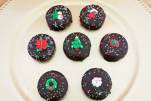 Merry Christmas Chocolate Dipped Cookie Gift Set