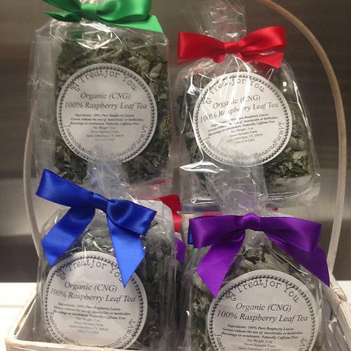 100% Organic (cng) Raspberry Loose Leaf Tea  (Vegan & Gluten Free)