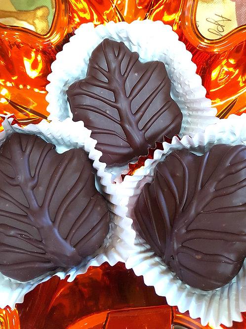 Chocolate Dipped Maple Leaf Cream