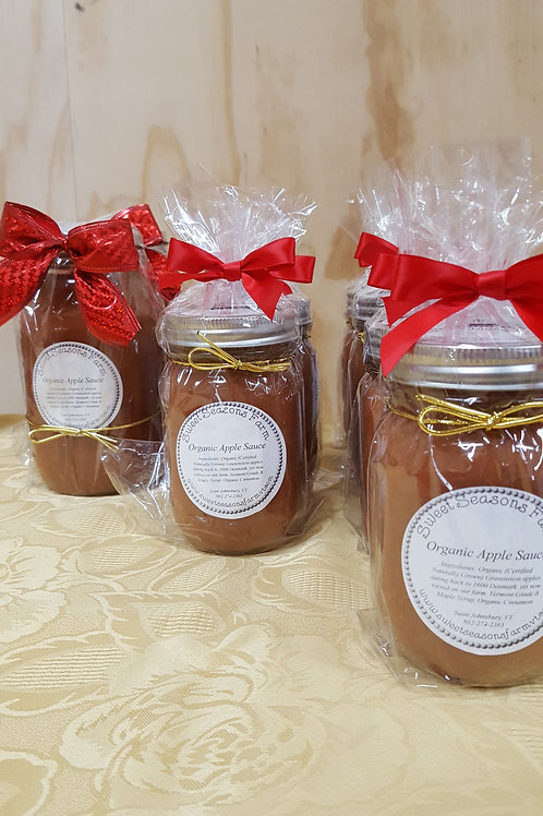 Organic Maple Applesauce (Vegan & Gluten Free)  1/2 Pint / 1 Pint & Quart Jars)