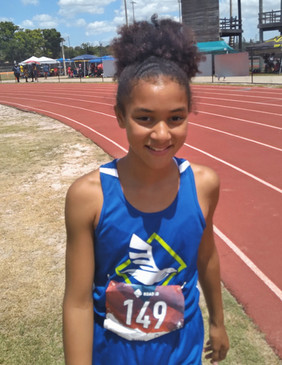 Nahla McCrae 11-12 age division Horizontal Jumps, Sprints