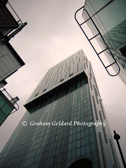 architecture, manchester, skyscraper, hilton, hotel, mono, building, manchester architecture, england, britain, icon, photo, iconphoto, graham, geldard, graham geldard, photography,