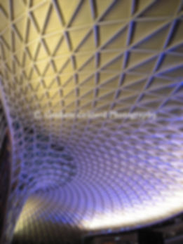 architecture, kings cross, station, railway station, concourse, roof, blue, abstract, london, purple, shapes, patterns, pattern, britain, british, building, england, english, geldard, graham, graham geldard, graham geldard photography, icon, photo, iconphoto, icon photo, photo, photography, rail, railway, london architecture, english architecture, british architecture