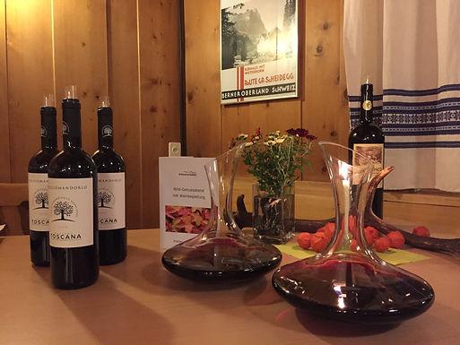 Wildgenussabend mit Weinbegleitung