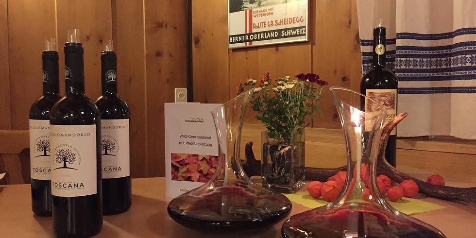 Wildgenuss-Abend mit Weinbegleitung