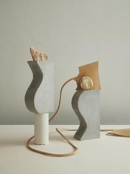 Création de pièces uniques en béton fait-main. Série photographie réalisée en collaboration avec Claire Israel.