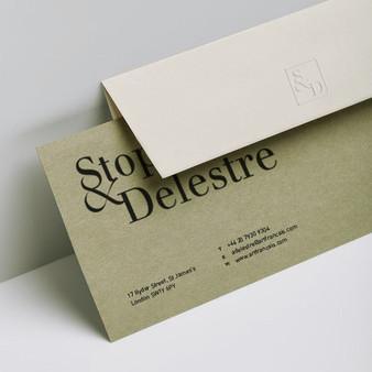 Création de l'identité graphique de la galerie d'art Stoppenbach & Delestre.