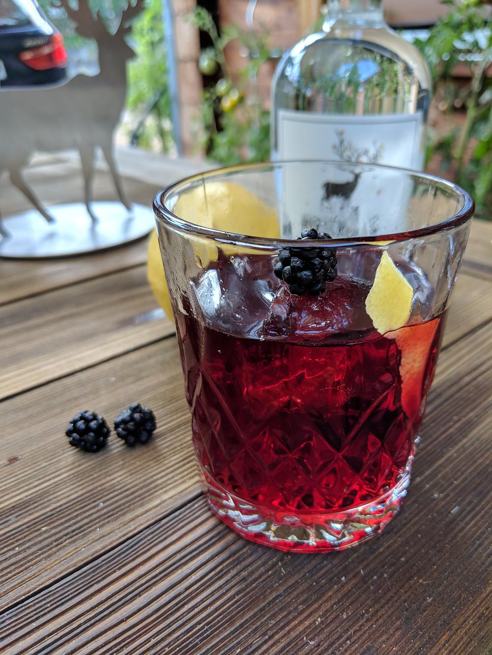 Rhabarber-Rosmarin Gin Tonic mit Van Nahmen Rhabarbersaft