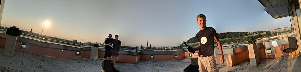 Hirschberg Gin in Budapest Panorama vom Mariott
